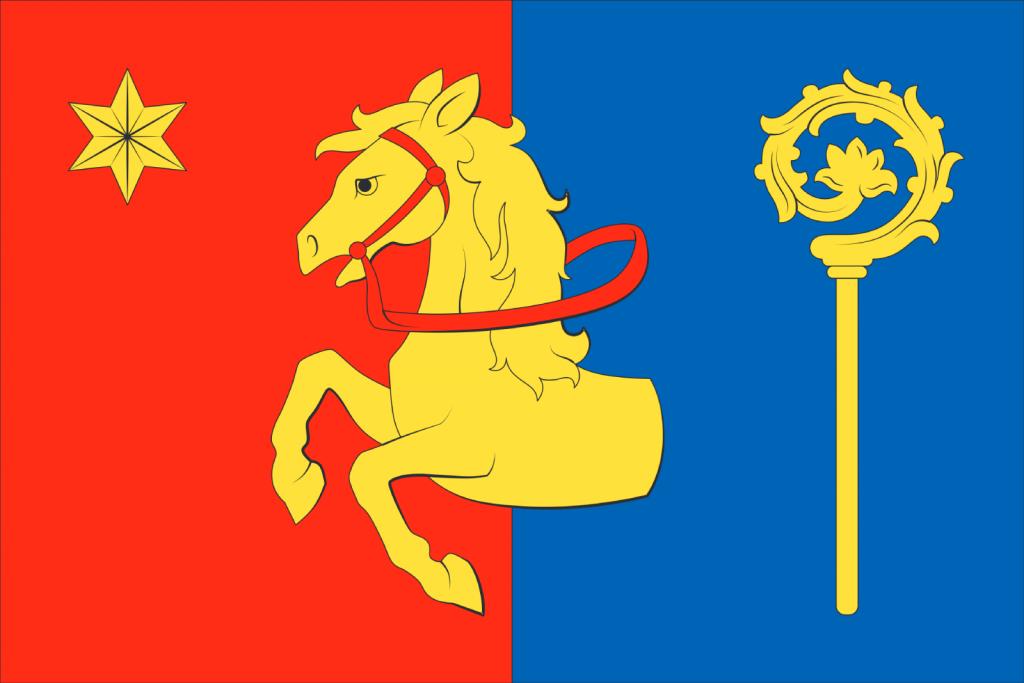 Vlajka obce Lhota - Vlasenice